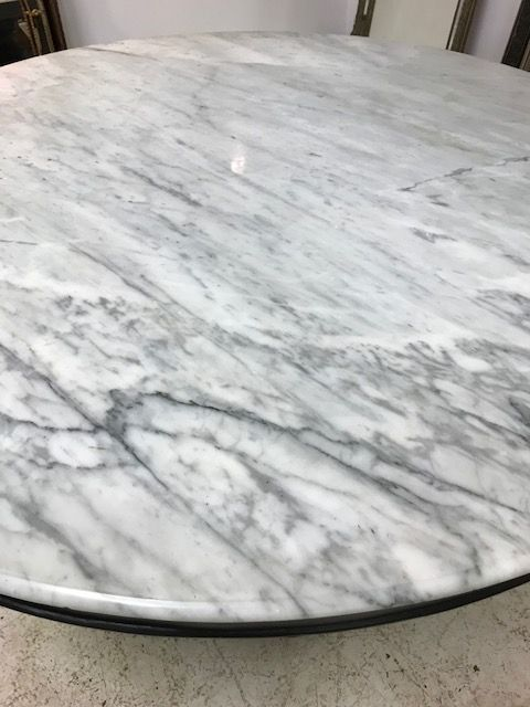 SOLD - Impressive French Marble Top Dining table - fs111